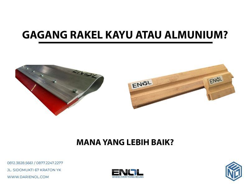 Rakel Alumunium atau Kayu?
