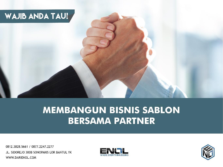 Membangun Bisnis Sablon Bersama Partner?