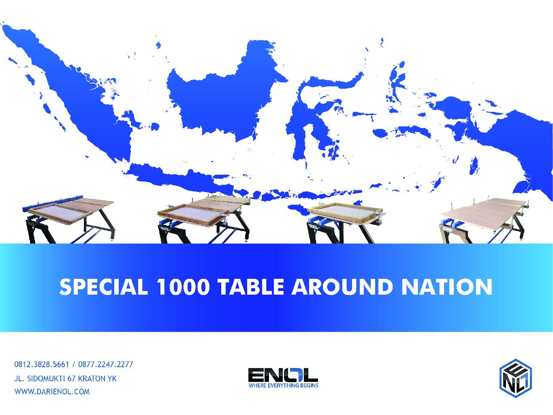 Penjualan 1000 Seribu meja sablon dalam Setahun