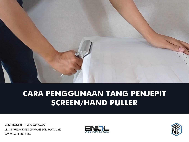 Cara Menggunakan Tang Pencepit Screen