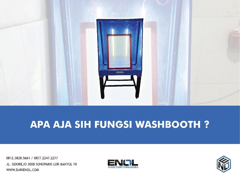 Apa Aja Sih Fungsi Washbooth